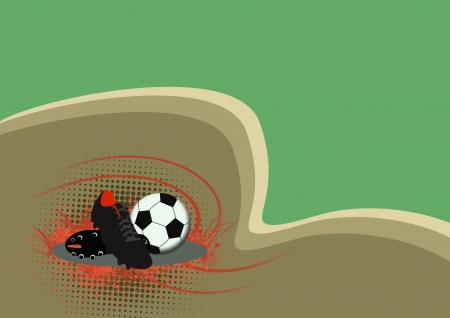 soccer shoe: Soccer shoe and ball background with space