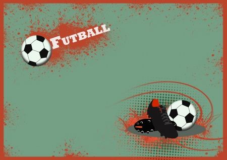 football shoes: Soccer shoe and ball background with space