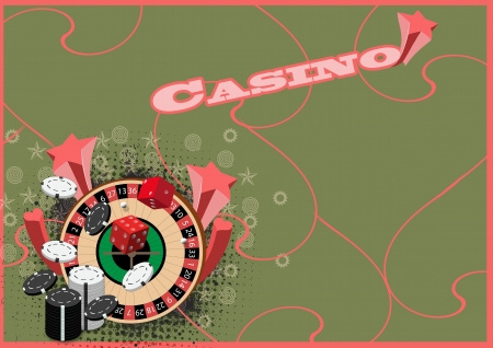 Abstract casino Roulette background with space photo