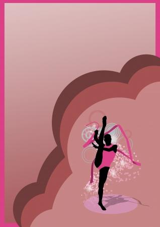 rhythmic: Color Rhythmic gymnastics sport background with space Stock Photo