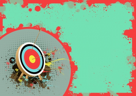 hunters: Abstract Color Archer sport background with space  Stock Photo