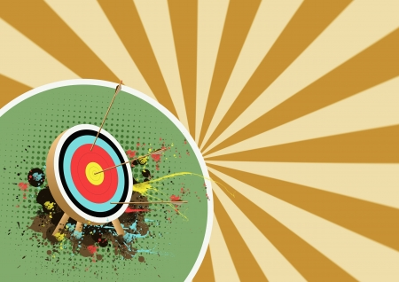 bull s eye: Abstract Color Archer sport background with space  Stock Photo