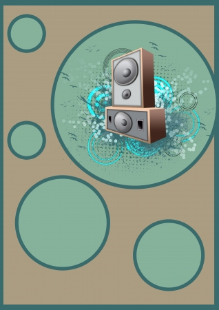 music hall: Music concert and disco Speaker background with space