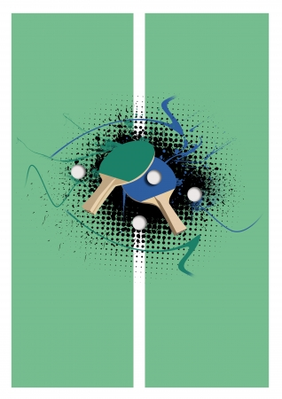 pong: Abstract grunge table tennis background with space Stock Photo