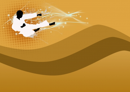 taekwondo: Abstract color Martial arts background with space