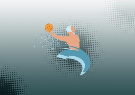 waterpolo: Water polo sport color de fondo con espacio