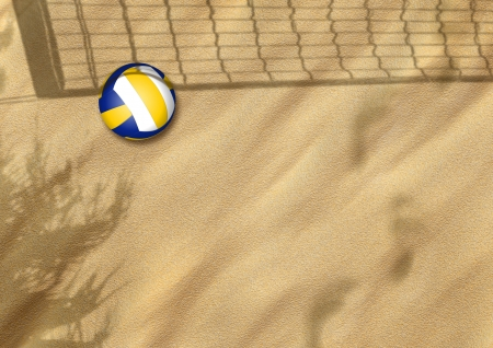beach volleyball on sand sport background with space Stock Photo - 15221649