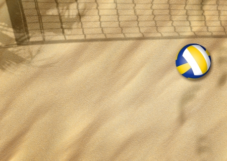 beach volleyball on sand sport background with space photo