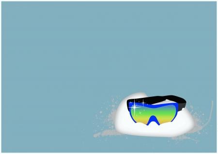 Winter sport ski glass background with space  photo