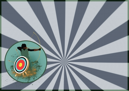 predictor: Shooting and archery target background with space
