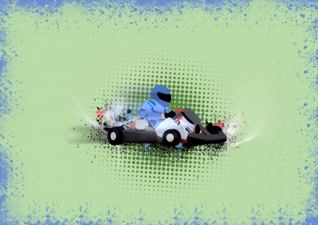 go kart: Mostor sport poster: Gocart background with space