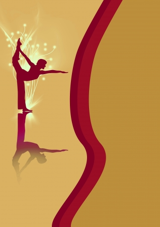 Abstract color yoga or ballet background with space photo