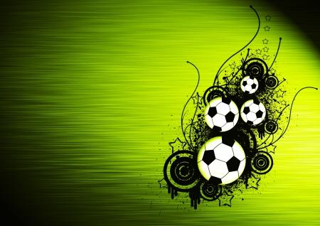 bannière football: Sport football: fond tract avec un espace Banque d'images