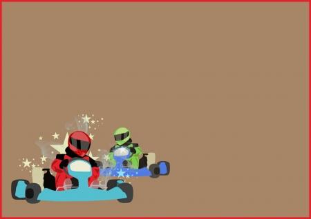 bandera carrera: Gocart carrera deportiva motor cartel de fondo con espacio