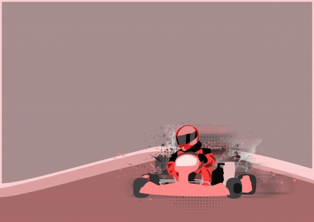 Gocart race motor sport poster background with space  photo