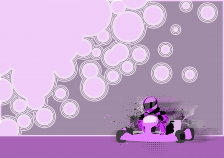 Gocart race motor sport poster background with space  Stock Photo
