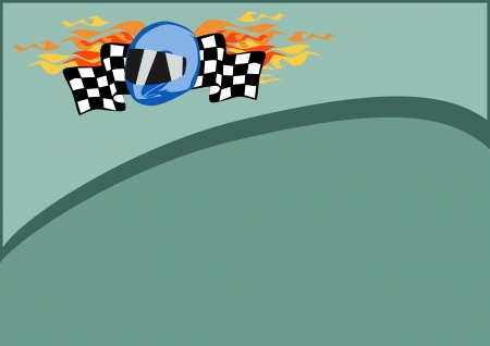 Gocart or motorsport poster background with space  photo