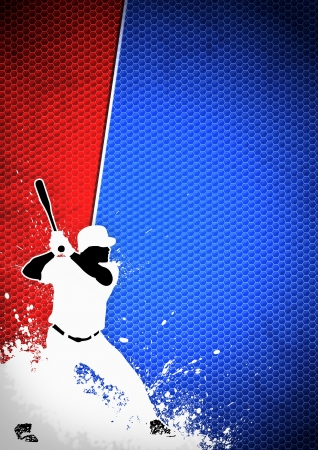 baseball stadium: Sport poster: Baseball player background with space Stock Photo