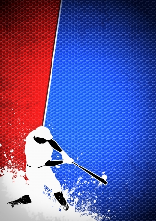 baseball game: Sport poster: Baseball player background with space Stock Photo