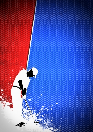 Golfclub poster: Man golf swing poster background with space Stock Photo - 15377420