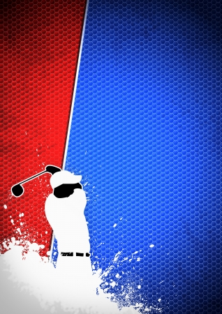 golf swings: Golfclub poster: Man golf swing poster background with space