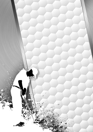 Golfclub poster: Man golf swing grayscale background with space Stock Photo - 15469468