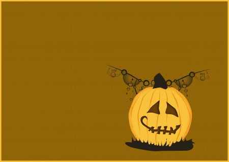 Halloween poster: pumpkin abstract background with space photo