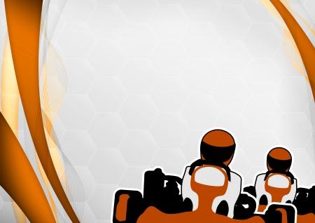 Race poster: man en gokart achtergrond met ruimte