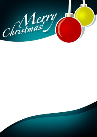 lightweight ornaments: Christmas ball sale business poster background with space