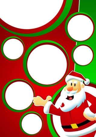 Christmas and santa claus sale business poster background with space Stock Photo - 15815681