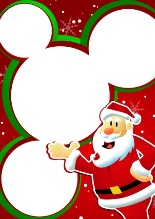 Christmas and santa claus sale business poster background with space Stock Photo - 15995261