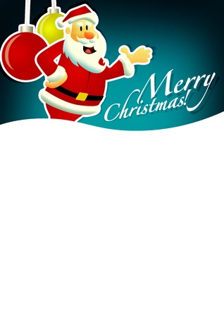 Christmas and santa claus sale business poster background with space photo