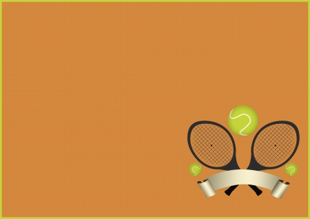 Tennis sport object background with space Stock Photo