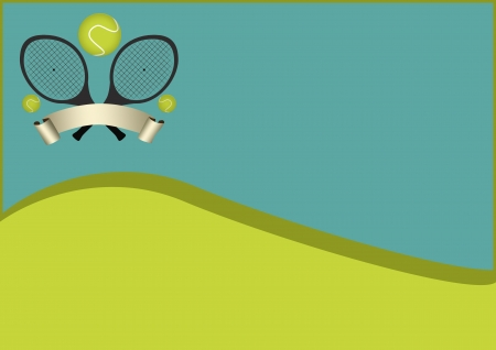 Tennis sport object background with space photo
