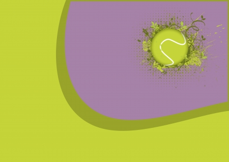 robbon: Tennis sport object background with space Stock Photo