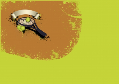 raquet: Tennis sport object background with space Stock Photo
