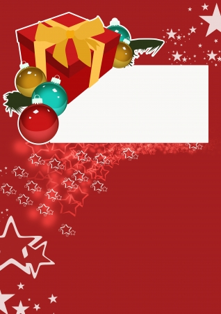 largesse: Christmas gift business poster background with space Stock Photo