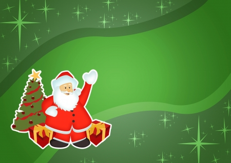 Christmas and santa claus sale business poster background with space Stock Photo - 16447729