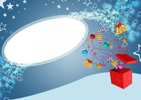 explored: Christmas sale business poster: gift explored background with space Stock Photo