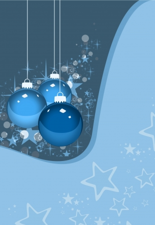 Color merry christmas card with ball background  photo