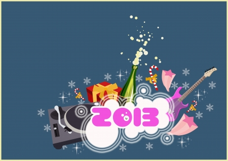 Happy new year poster background with space photo