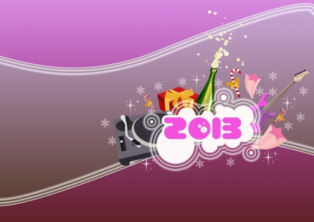 Happy new year poster background with space Stock Photo - 16632007