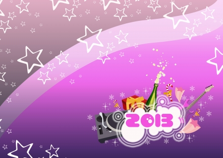 Happy new year poster background with space Stock Photo - 16632035