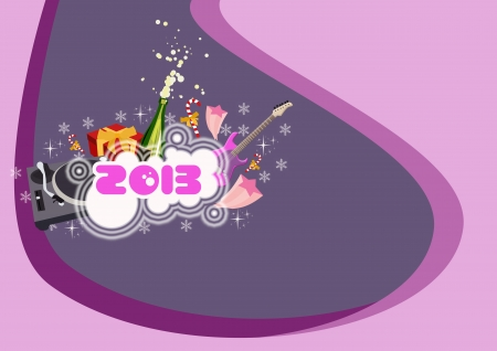 Happy new year poster background with space Stock Photo - 16631989