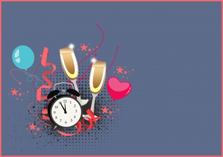 Happy new year poster background with space Stock Photo - 16632028