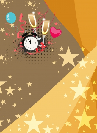 new year poster: Happy new year poster background with space