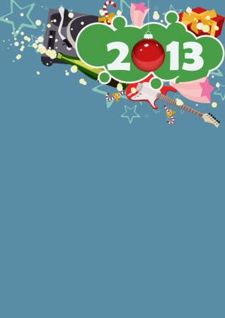 Happy new year poster background with space Stock Photo - 16631988