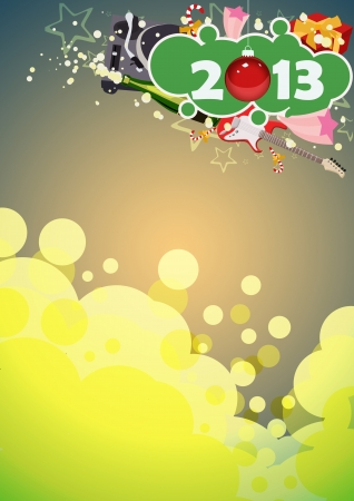 Happy new year poster background with space Stock Photo - 16632004