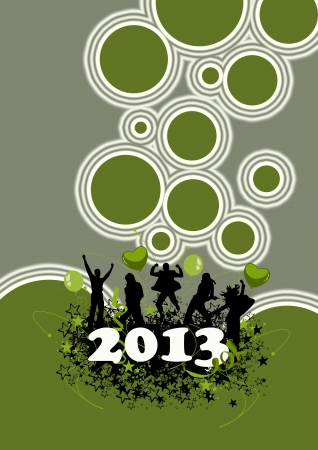 Happy new year poster background with space Stock Photo - 16632038