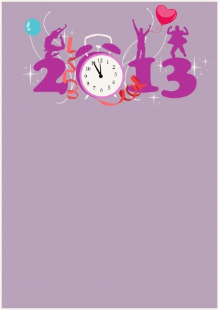 Happy new year poster background with space Stock Photo - 16631930